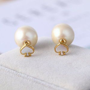Kate Spade Simple Heart Pearl Earrings